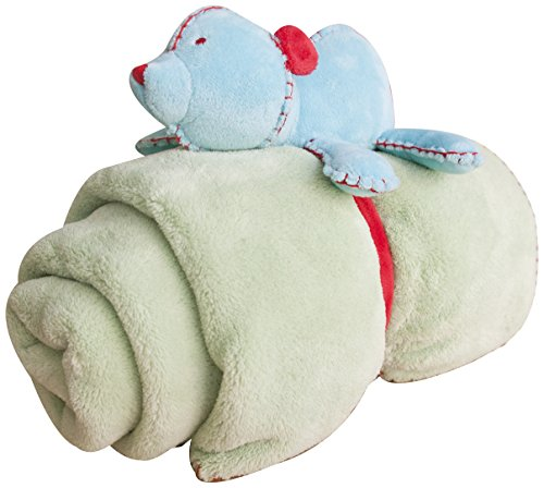 Kidsline Who's At The Zoo Boa Blanket, Plush Huggie