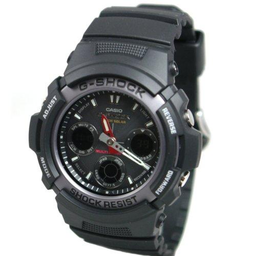 Casio Men's AWG101-1A G-Shock Multi-Band Solar Atomic Analog Watch