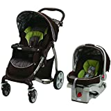 Graco Stylus Travel System with SnugRide, 35 Click Connect Infant Car Seat in Roundabout, Brown/Green