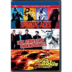 Smokin' Aces / Lock, Stock and Two Smoking Barrels / The Fast and the Furious: Tokyo Drift Triple Feature Film Set