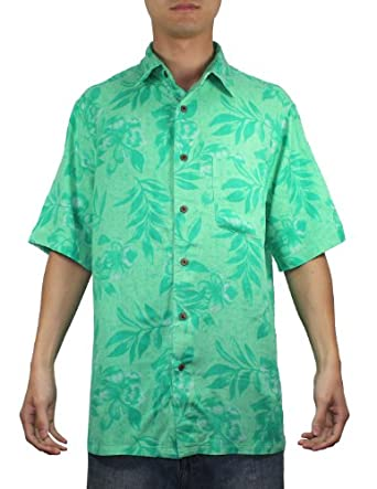 Mens hawaiian short sleeve 100 silk camp for Mens short sleeve camp shirts