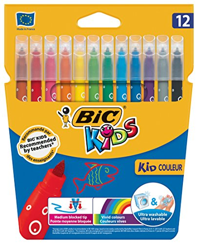 bic-kids-couleur-felt-tip-pens-with-medium-nib-assorted-colours-pack-of-12