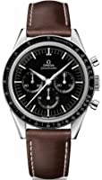 Omega Speedmaster Moonwatch Black Dial Brown Leather Mens Watch OM31132403001001 from Omega