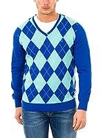 McGregor Jersey Alby Clubby Argyle Vn (Azul Royal / Verde Menta)