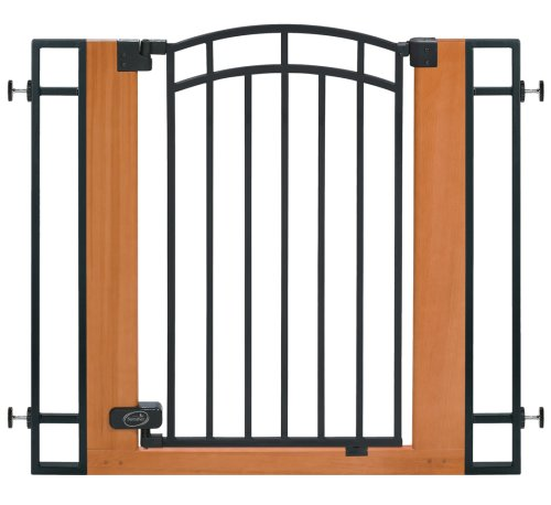 Summer Infant Stylish n' Secure Extra Tall Wood and Metal Walk Through Gate, 29 to 40 Inch Wide