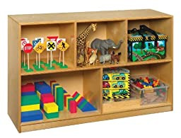 Childcraft 202815 Mobile Toy and Block Shelf, Birch Veneer Panel, 4-Coat UV Acrylic, 30\
