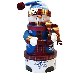 Art of Appreciation Gift Baskets Snowman Tower of Christmas Holiday Treats