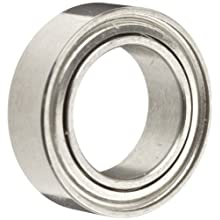Dynaroll Precision Miniature Ball Bearing, ABEC-5, Double Shielded, Stainless Steel, Metric