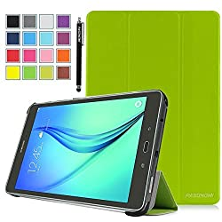 Galaxy Tab A 8.0 SM-T350 Case, Pasonomi Ultra-Slim and Ultra-light PU Leather Folio Case Stand Cover With Smart Cover Auto Wake / Sleep Feature for Samsung Galaxy Tab A 8.0 SM-T350 Tablet (Green)