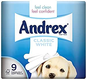 kimberley clark VKC4970125 - Andrex Toilet Tissue White VKC4970125 (9 Rolls)