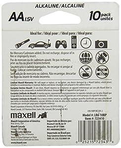 Maxell AAA Alkaline Battery, 10 pack
