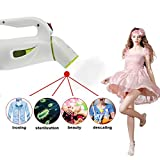 Mini 600-watt Hand Held Garment Steamer,household mini garment steamer portable Mini Travel Clothes Steamer---Green