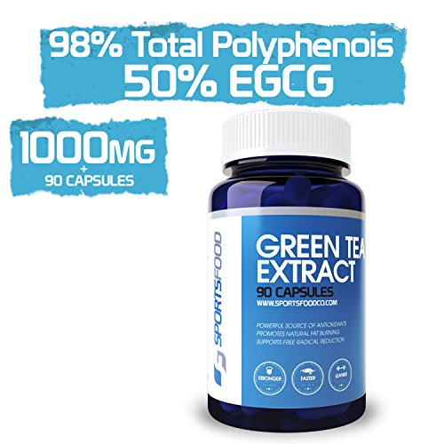 Green Tea Extract 1000mg x 90 Tablets, 98% Total Polyphenols