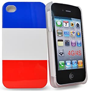 Accessory Master - la conception hard housse drapeau français pour apple iphone 4s