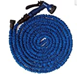 FLEXIBLE EXPANDABLE HOSE PIPE LIGHT WEIGHT NON KINK WATER SPRAY NOZZLE. (Blue, 100 ft)