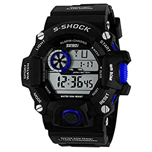 Water-resistance and Shockproof Watches Casual Men's Watches Students Boys Girls Sports Watch - Sky Blue