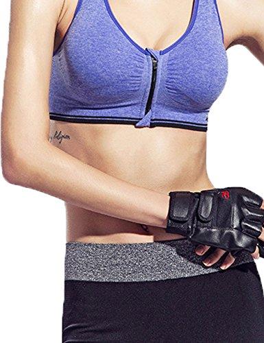 Little Hand®Donna Reggiseno Sportivo Yoga Senza Ferretto Con Cerniera Frontale