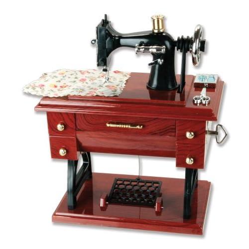 Musical Sewing Machine Music Box Vintage Look