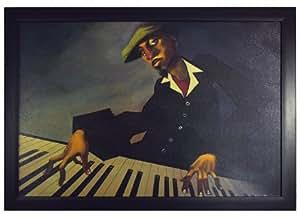 "Amazon.com: Piano Man II by Justin Bua, Jazz 24""x36"
