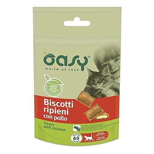 OASY Biscotti ripieni al pollo 60gr - Snack per gatto