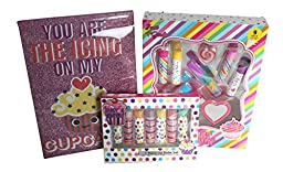 3 Pc You Are the Icing on My Cupcake Girls Beauty Bundle Includes: 9 Pc Lip Set, 7 Pc Lip Balm Set, 8\