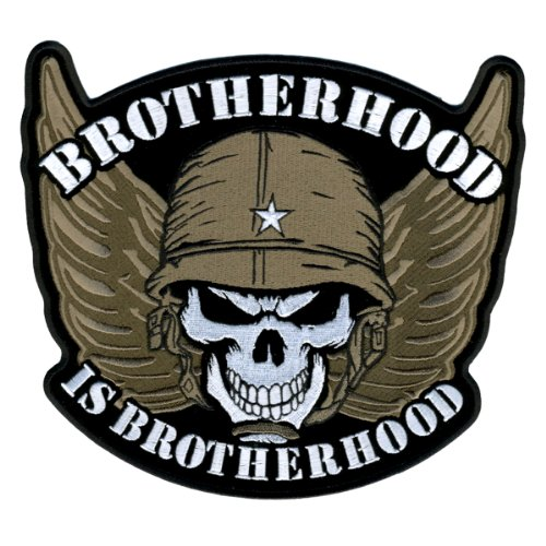 Hot Leathers Brotherhood Skull Patch (5