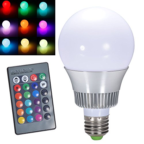Ljy E27 10W Rgb Led Light Color Changing Lamp Bulb Ac 85-265V With Remote Control