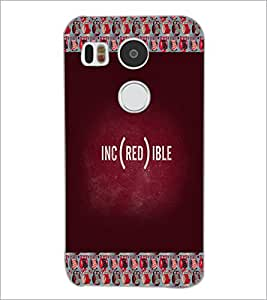 PrintDhaba Quote D-3999 Back Case Cover for LG NEXUS 5X (Multi-Coloured)