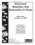 img - for Document Retention And Destruction book / textbook / text book