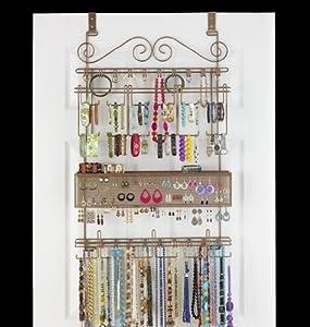 Longstem Overdoor Wall Jewelry Organizer In