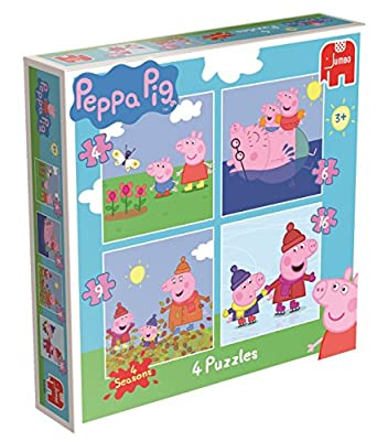 2x Peppa Pig 4-in-1 Jigsaw Puzzles in a Box (4/6/9/16 Pieces)