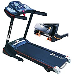 Powermax Fitness TDM-100S 1.5HP (3HP peak) Motorized Treadmill with Jumping Wheels and Auto-lubrication (Warranty: Motor - 3 yrs; Other parts - 1yr)