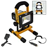 ARKSEN Brand Portable 10W COB Type Super Bright LED Work Light Rechargeable Flood Lights Lamp