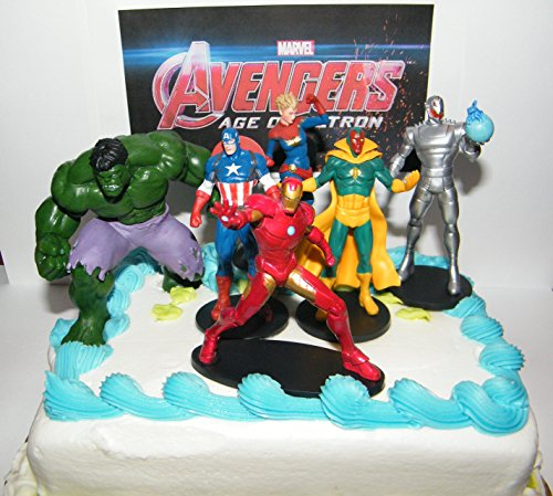 Avengers Age of Ultron Figure Toy Set of 6 Deluxe Cake Toppers Party