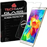 TECHGEAR® Samsung Galaxy Tab S 8.4 Inch (SM-T700/SM-T705) Series) GLASS Edition Genuine Tempered Glass Screen Protector Guard Cover