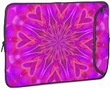 """Designer Sleeve 17"""" Laptop Case Pink Heart with FREE matching Laptop Skin"""