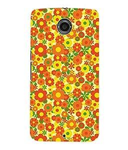 Fuson 3D Printed Floral Pattern Designer Back Case Cover for Motorola Google Nexus 6 - D930