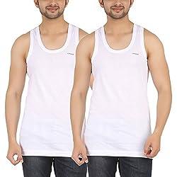 SHERA COMATE White Color FINE VEST Pack of 2