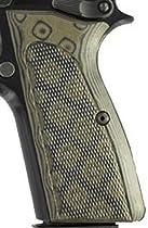 Hogue Browning Hi Power Grips Checkered G-10 G-Mascus Green