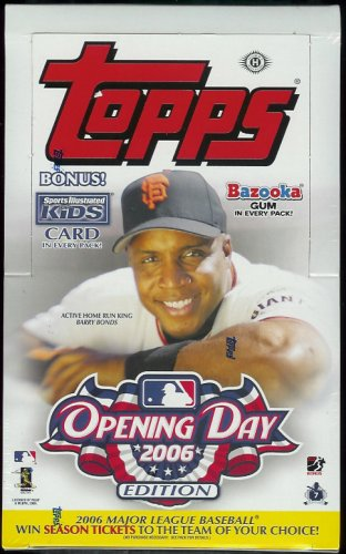 2006 Topps Opening Day Baseball Cards Hobby Box (36 packs/box, 7 cards/pack, Gum In Every Pack)