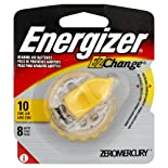 Energizer EZChange Hearing Aid Batteries, Zinc Air, Size 10, 8 ct.