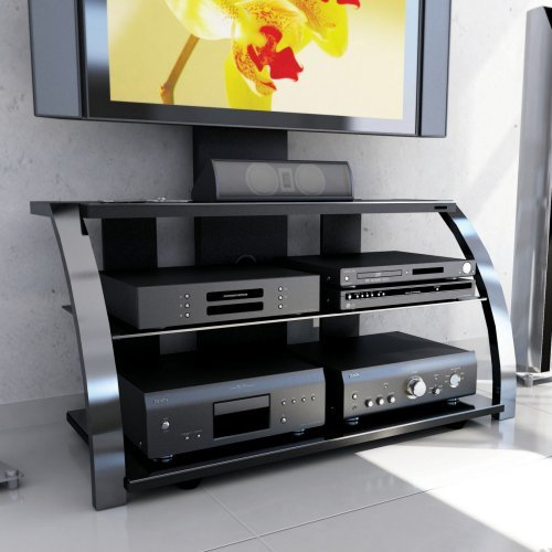 Image of Sonax Milan 3-in-1 Design 52-inch HD TV Stand with Mount in Metal Chrome Finish (ML-1454)
