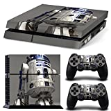 FreeSticker� PLAYSTATION 4 Designer Skin Game Console System 2 Controller Decal Vinyl Protective Stickers Sony PS4 - STAR WARS SPACE FORCE ROBOT R2D2