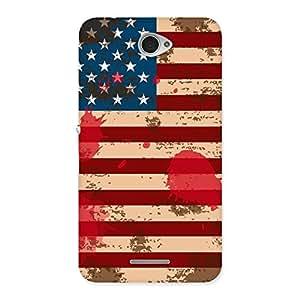 Grunge USA Flag Print Back Case Cover for Sony Xperia E4
