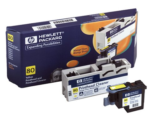 HP C4823A No. 80 Printhead And Cleaner (Yellow)