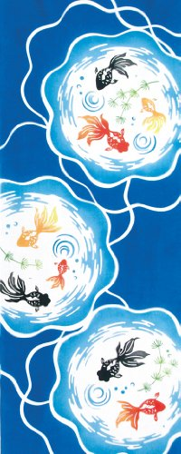 kenema 手ぬぐい 夏の風物詩 金魚鉢 36×90cm