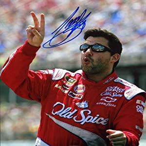 Tony Stewart Autographed 8x10 Photo by Memorabilia