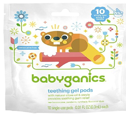 Babyganics Benzocaine Free Gel Teething Pods - .3 ml, Size .3 ml - 1