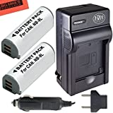 BM Premium (2 Pack) NB-9L Battery And Charger Kit For Canon PowerShot N, N2, Elph 510, Elph 520, Elph 530 HS, SD4500 IS Digital Camera + More!!