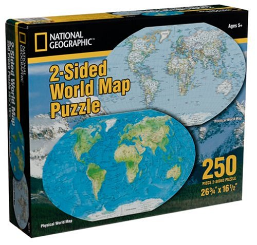 Cheap Warren National Geographic 2 Sided Map Jigsaw Puzzle 250pc (B000219Y18)